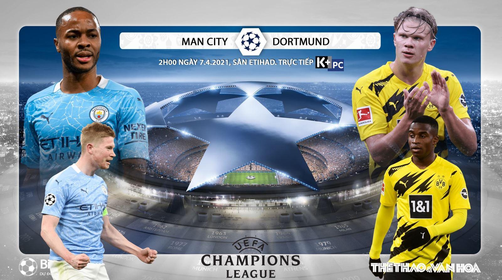 Soi kèo nhà cáiMan City vs Dortmund. Tứ kết lượt đi Cúp C1 châu Âu