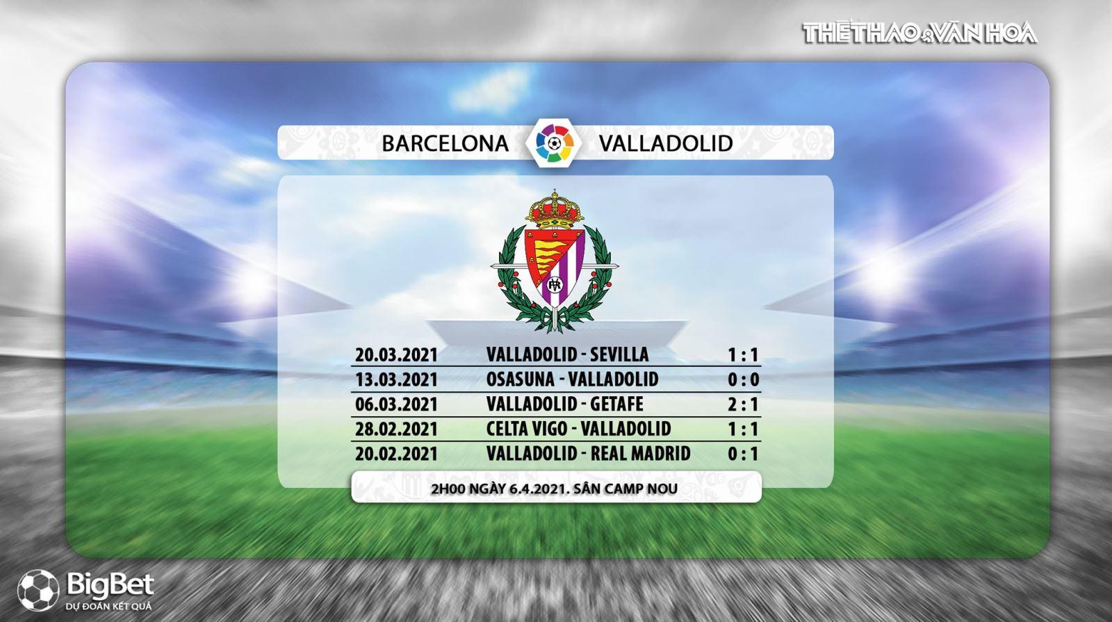 Kèo nhà cái. Barcelona vs Valladolid. BĐTV trực tiếp bóng đá Tây Ban Nha