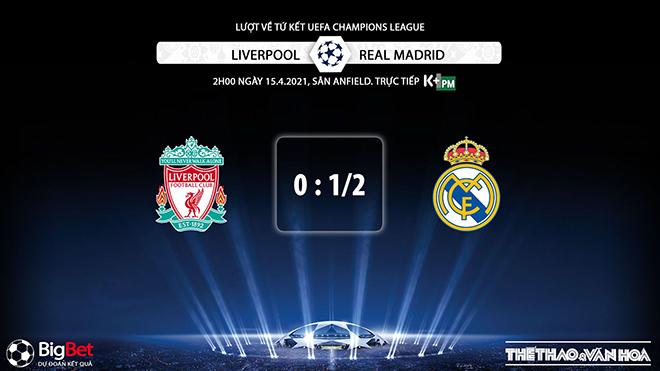 Keo nha cai, Liverpool vs Real Madrid, K+, K+PM trực tiếp tứ kết Cúp C1, xem trực tiếp cúp C1, soi kèo Real Madrid đấu với Liverpool, soi kèo Real, soi kèo Liverpool