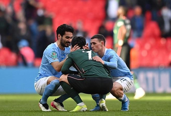 Man City 1-0 Tottenham, Son Heung Min, Son Heung Min khóc, kết quả cúp liên đoàn, kết quả Man City vs Tottenham, Man City, video clip Man City vs Tottenham