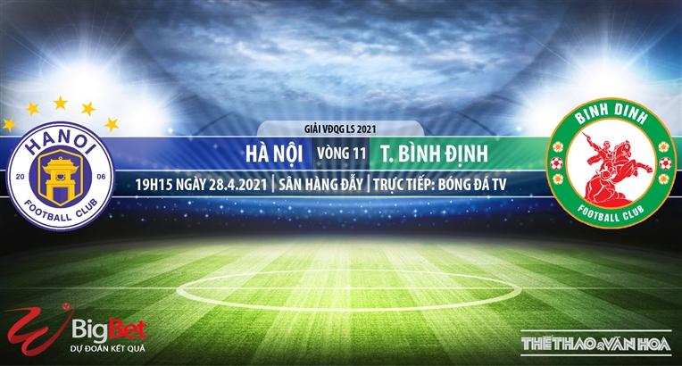 Soi kèo nhà cái Hà Nội vs Bình Định.BĐTV trực tiếp vòng 11 V-League 2021