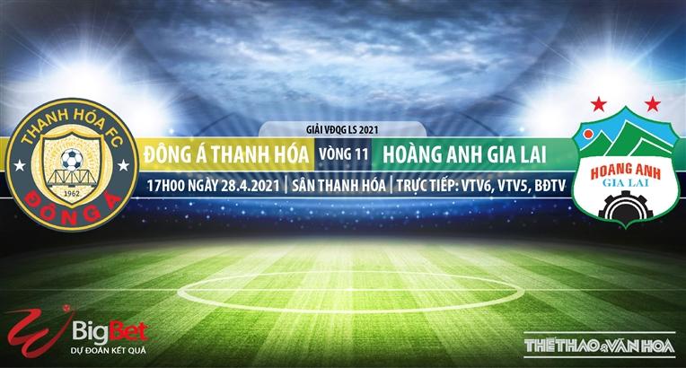 Soi kèo nhà cái Thanh Hóa vs HAGL. VTV6 trực tiếp vòng 11 V-League 2021