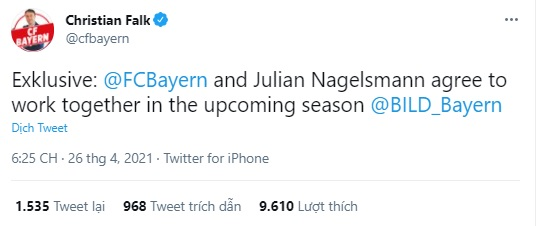 Bayern Munich, Nagelsmann dẫn dắt Bayern Munich, Nagelsmann thay thế Hansi Flick, Nagelsmann, Hansi Flick, bóng đá Đức, Bundesliga, HLV ở bayern, đội tuyển Đức, Leipzig