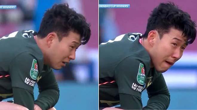 Son Heung Min khóc nức nở trong ngày Tottenham thua Man City
