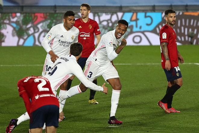 Real Madrid 2-0 Osasuna, Kết quả bóng đá Tây Ban Nha, bảng xếp hạng La Liga, tin tức bóng đá Tây Ban Nha, Kết quả Real Madrid đấu với Osasuna, tin bóng đá hôm nay