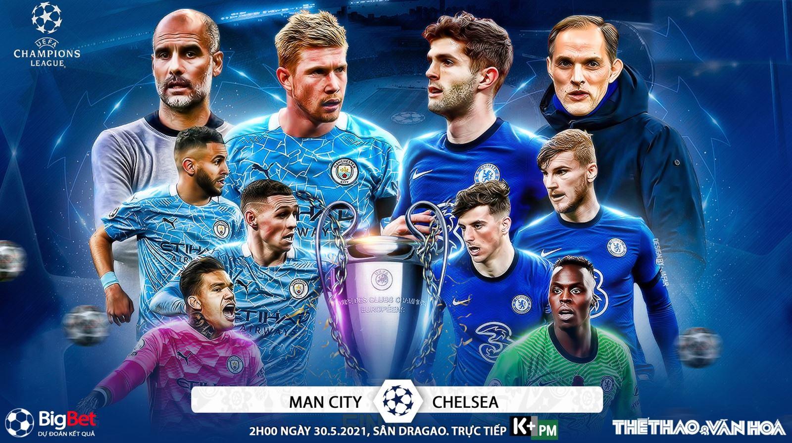 Soi kèo nhà cái Man City vs Chelsea. K+PM trực tiếp chung kết cúp C1