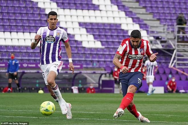 Valladolid 1–2 Atletico Madrid, ket qua bong da Tay ban Nha, ket qua La Liga, kết quả bóng đá Tây Ban Nha, Atletico vô địch La Liga, bảng xếp hạng La Liga