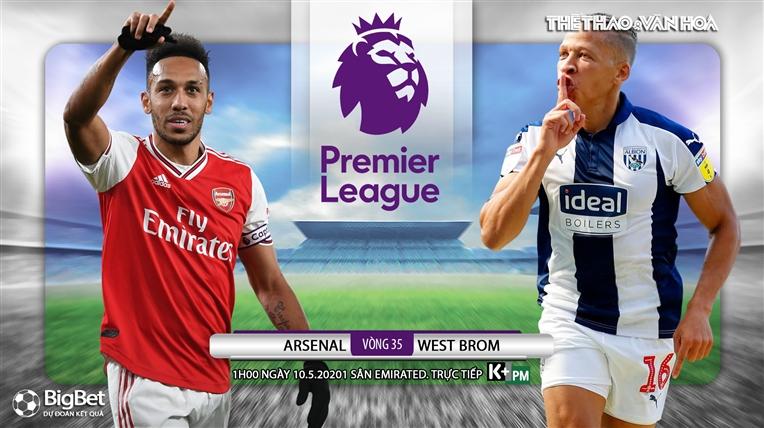 Soi kèo nhà cáiArsenal vs West Brom. K+, K+PM trực tiếp bóng đá Ngoại hạng Anh