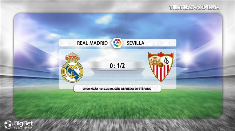 Keo nha cai, Real Madrid vs Sevilla, BĐTV trực tiếp bóng đá Tây Ban Nha, trực tiếp Real Madrid vs Sevilla, kèo Real Madrid, kèo Sevilla, kèo bóng đá La Liga, Bóng đá TV