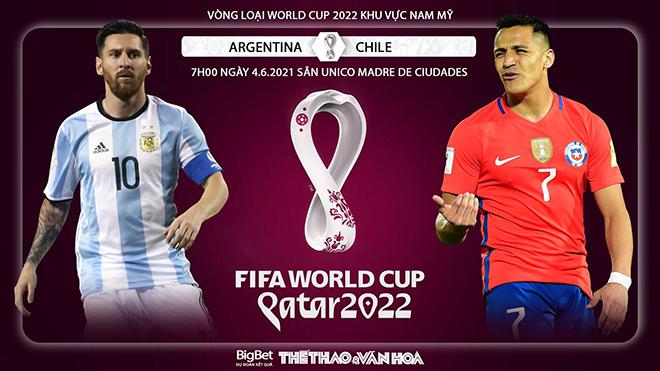Soi kèo nhà cái Argentina vs Chile. Vòng loại World Cup 2022 khu vực Nam Mỹ