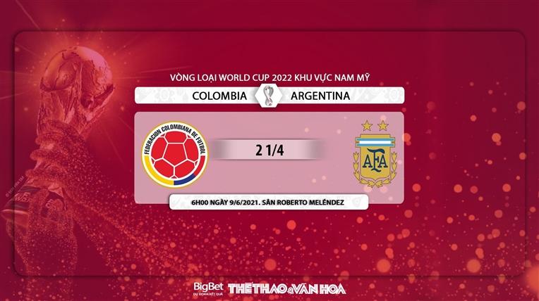 keo nha cai, Colombia vs Argentina, kèo nhà cái, Argentina vs Colombia, soi kèo bóng đá, VTV6, trực tiếp bóng đá hôm nay, xem bong da, vòng loại World Cup 2022