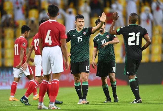 Indonesia 0-5 UAE, Việt Nam 2-1 Malaysia, ket qua bong da, ket qua vong loai world Cup 2022, kết quả bóng đá Việt Nam - Malaysia, bảng xếp hạng bảng G vòng loại World Cup