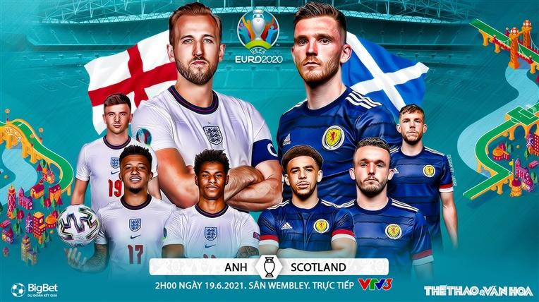 Kèo nhà cáiAnh vs Scotland. Soi kèo bóng đá EURO 2021. Trực tiếp VTV3, VTV6