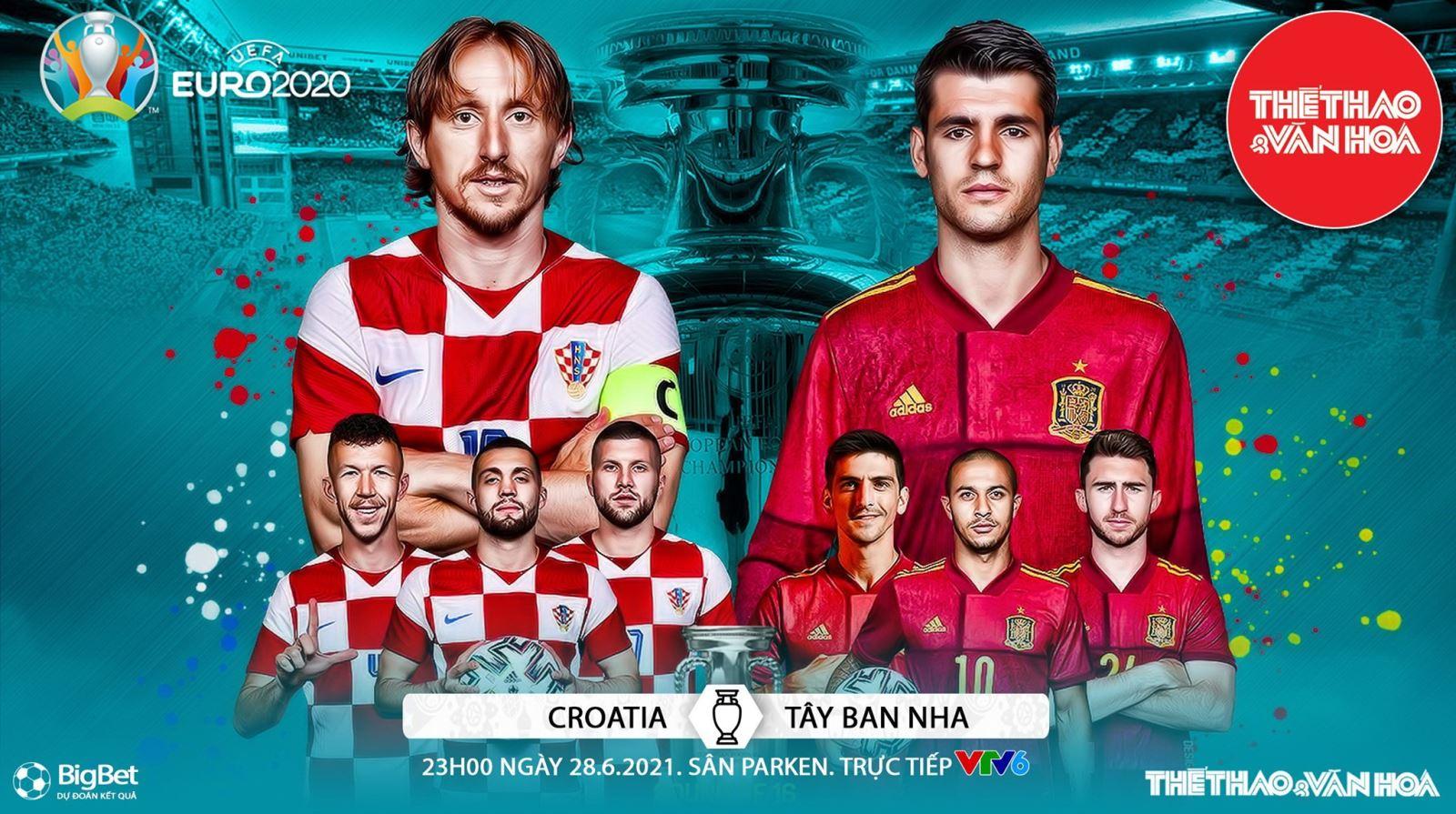Kèo nhà cái. Soi kèo Croatia vs Tây Ban Nha. VTV6 VTV3 trực tiếp bóng đá EURO 2021