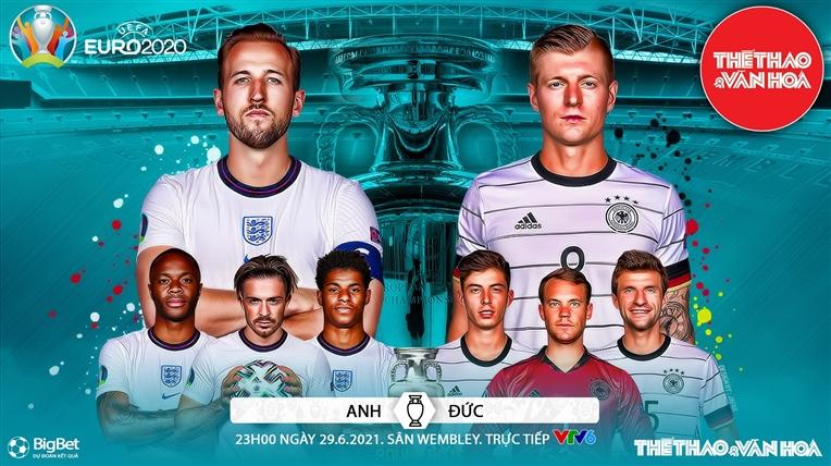 Xem trực tiếp bóng đá Anh vs Đức, VTV6, VTV3 Truc tiep bong da, Link xem trực tiếp bóng đá hôm nay, Đức vs Anh, Kèo nhà cái, trực tiếp Đức-Anh, EURO 2021 vòng 1/8