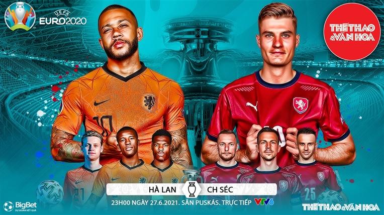 Kèo nhà cái. Soi kèo Hà Lan vs Séc. VTV6 VTV3 trực tiếp bóng đá EURO 2021