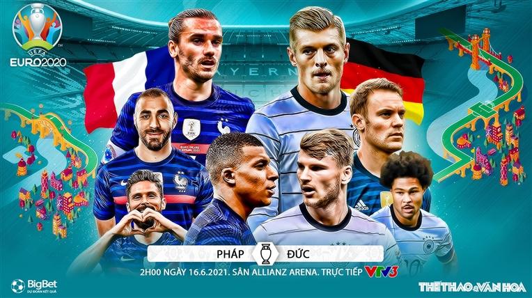 Kèo nhà cáiPháp vs Đức. Tỷ lệ kèo bóng đá EURO 2021. Trực tiếp VTV3, VTV6