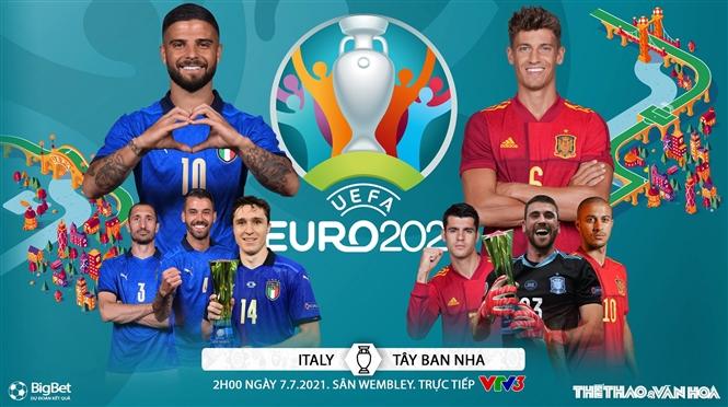 Kèo nhà cái. Soi kèo Ý vs Tây Ban Nha. VTV3 VTV6 trực tiếp bóng đá EURO 2021