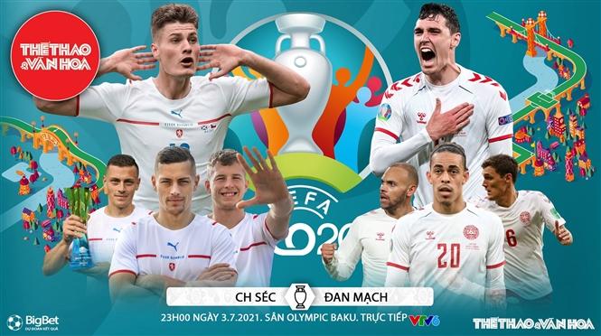 Kèo nhà cái. Soi kèo Cộng hòa Séc vs Đan Mạch. VTV6 VTV3 trực tiếp bóng đá EURO 2021