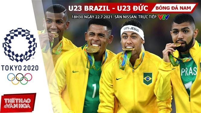 Kèo nhà cái. Soi kèo U23 Brazil vs Đức. VTV6 VTV5 trực tiếp bóng đá Olympic 2021