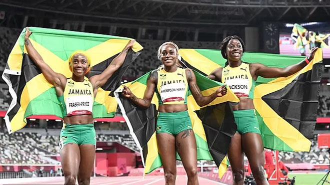 Elaine Thompson-Herah phá kỷ lục Olympic nội dung chạy 100m nữ