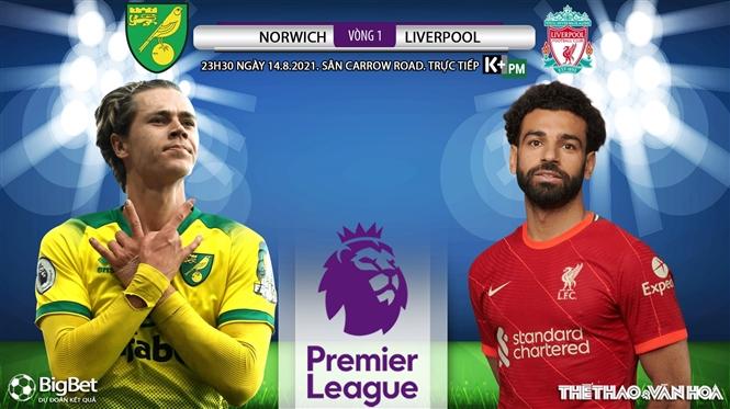 Soi kèo nhà cái Norwich vs Liverpool và nhận định bóng đá Ngoại hạng Anh (23h30, 14/8)