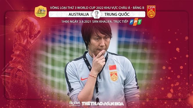 Soi kèo nhà cái Úc vs Trung Quốc và nhận định bóng đá vòng loại World Cup 2022 châu Á (1h00, 3/9)