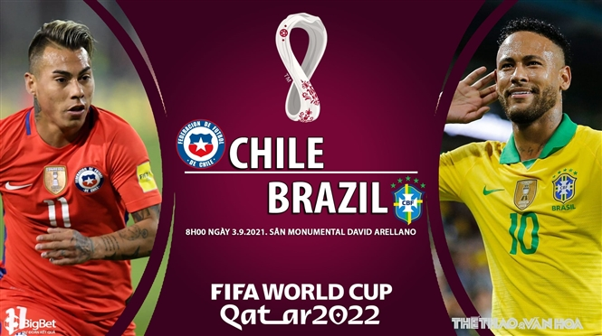 Soi kèo nhà cái Chile vs Brazil và nhận định bóng đá Vòng loại World Cup 2022 (8h00 ngày 3/9)