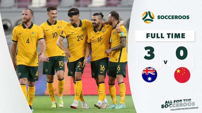 Úc 3-0 Trung Quốc: Úc thắng dễ Trung Quốc trước trận gặp Việt Nam