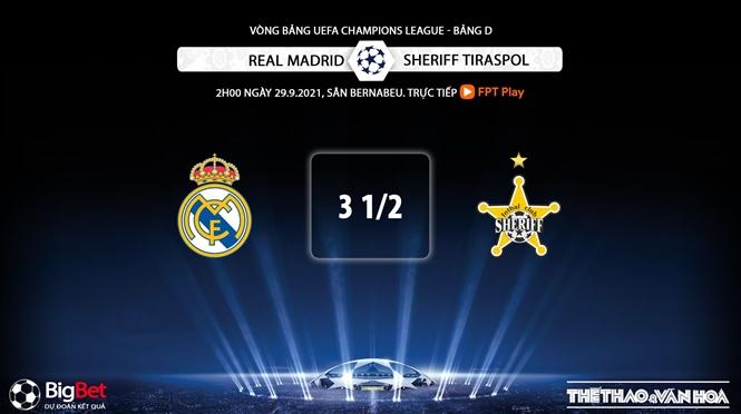 Real Madrid vs Sheriff, kèo nhà cái, soi kèo Real Madrid vs Sheriff, nhận định bóng đá, keo nha cai, nhan dinh bong da, kèo bóng đá, Real Madrid, Sheriff Tiraspol, Cúp C1