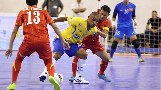 KẾT QUẢ futsal Việt Nam 1-9 Brazil, Futsal World Cup 2021 hôm nay