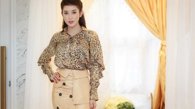 Huyền My 'tút tát' nhan sắc chuẩn bị thi Hoa hậu Hòa bình Thế giới 2017