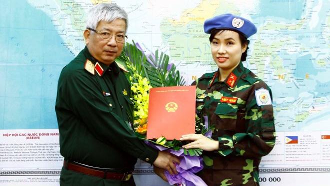 Thiếu tá Đỗ Thị Hằng Nga, nữ quân nhân Việt Nam đầu tiên tham gia lực lượng gìn giữ hòa bình Liên hợp quốc