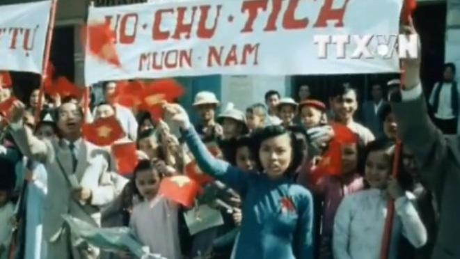 Xem lại những thước phim màu quý giá ngày Thủ đô Hà Nội hoàn toàn giải phóng