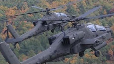 Hàn Quốc tập trận bắn tên lửa không đối đất Hellfire từ trực thăng Apache