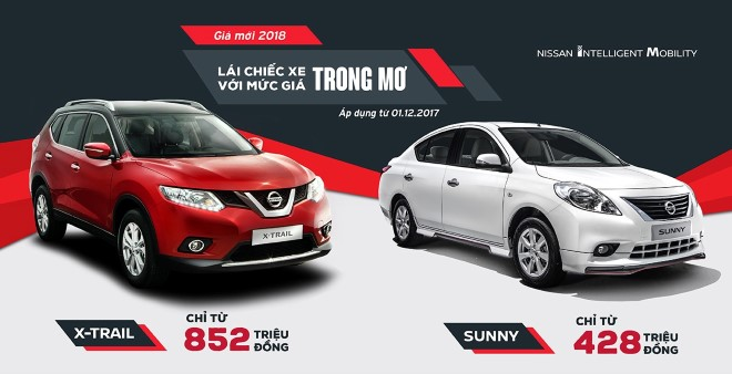 Nissan giảm giá mạnh 2 mẫu xe lắp ráp X-Trail và Sunny
