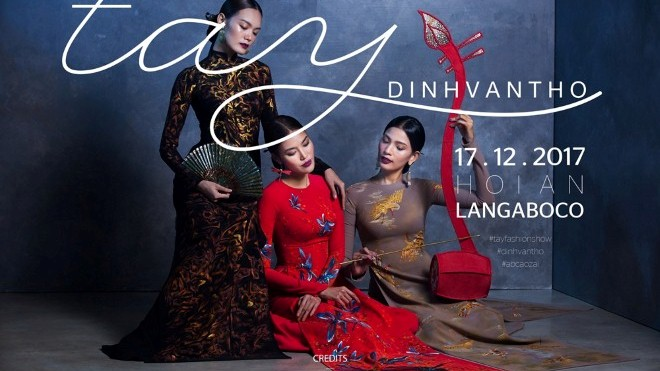 Trương Thị May, Lan Khuê trình diễn thời trang áo dài tại Hội An