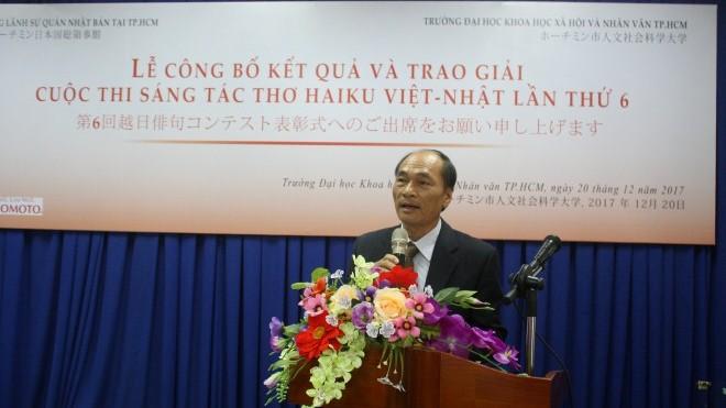 Trao giải thưởng cuộc thi thơ Haiku Việt - Nhật lần thứ 6