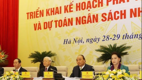Tổng Bí thư, Chủ tịch nước, Chủ tịch Quốc hội cùng dự Hội nghị trực tuyến Chính phủ