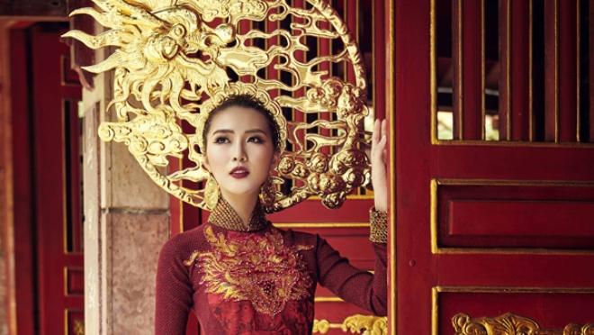 Tường Linh hé lộ trang phục truyền thống mang hình rồng dự thi Hoa hậu Liên lục địa