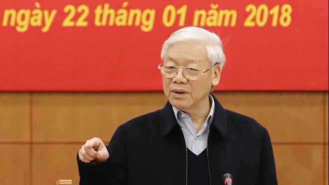 Toàn văn Phát biểu kết luận của Tổng Bí thư Nguyễn Phú Trọng tại phiên họp của Ban Chỉ đạo Trung ương về phòng, chống tham nhũng