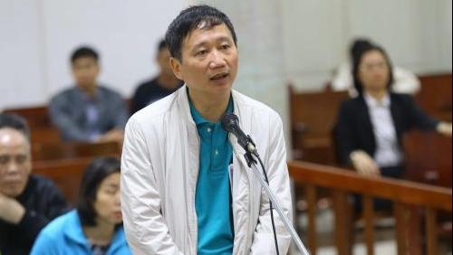 Phiên tòa xét xử Trịnh Xuân Thanh vụ tham ô tài sản tại PVP Land sáng 25/1