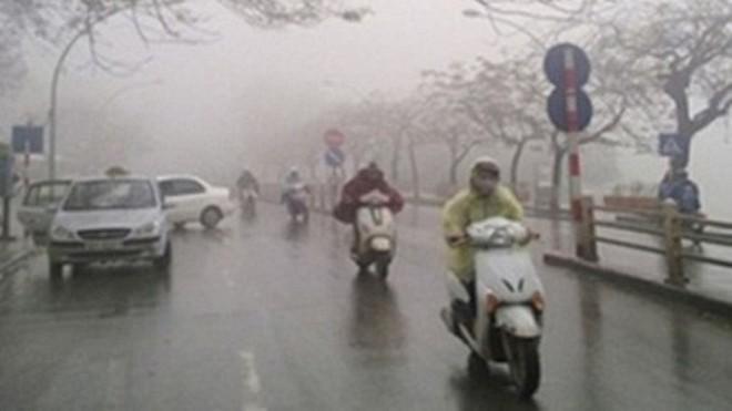 Miền Bắc rét đậm, mưa nhỏ vào buổi sáng sớm
