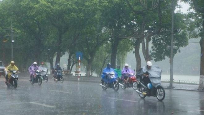 Bắc Bộ có mưa diện rộng, Nam Bộ nắng nóng giảm dần