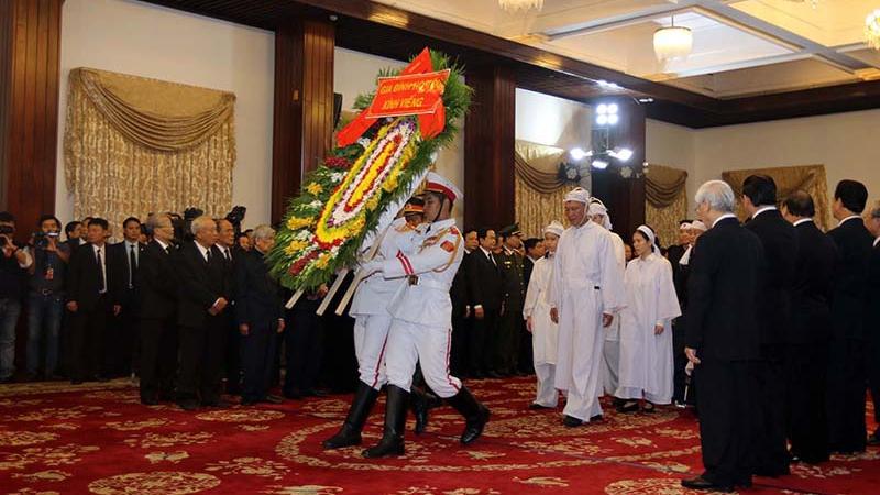 VIDEO Cử hành trọng thể lễ viếng nguyên Thủ tướng Phan Văn Khải
