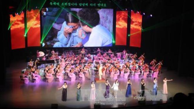 Đoàn nghệ thuật Hà Quốc và Triều Tiên cùng biểu diễn tại Bình Nhưỡng