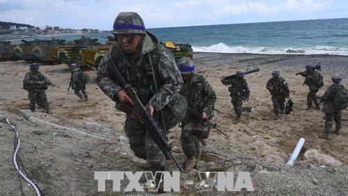 Mỹ, Hàn Quốc ngừng tập trận vào ngày diễn ra hội nghị thượng đỉnh liên Triều