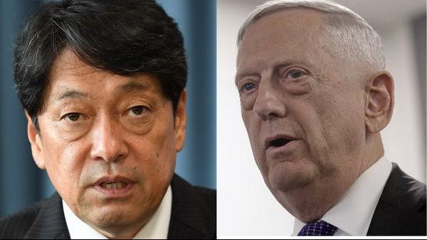 Bộ trưởng Quốc phòng Nhật Bản, Mỹ nhất trí duy trì sức ép với Triều Tiên