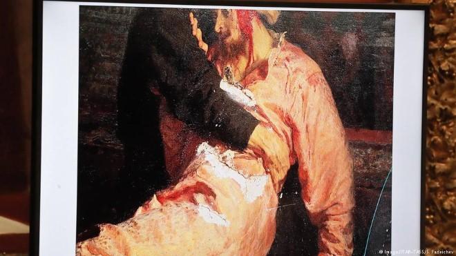 Bức tranh 'Ivan the Terrible' bị tấn công: Khó như bảo vệ kiệt tác mỹ thuật
