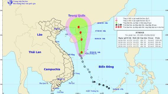 Tin mới nhất: Bão số 2 giật cấp 11, vùng biển Hoàng Sa mưa dông mạnh